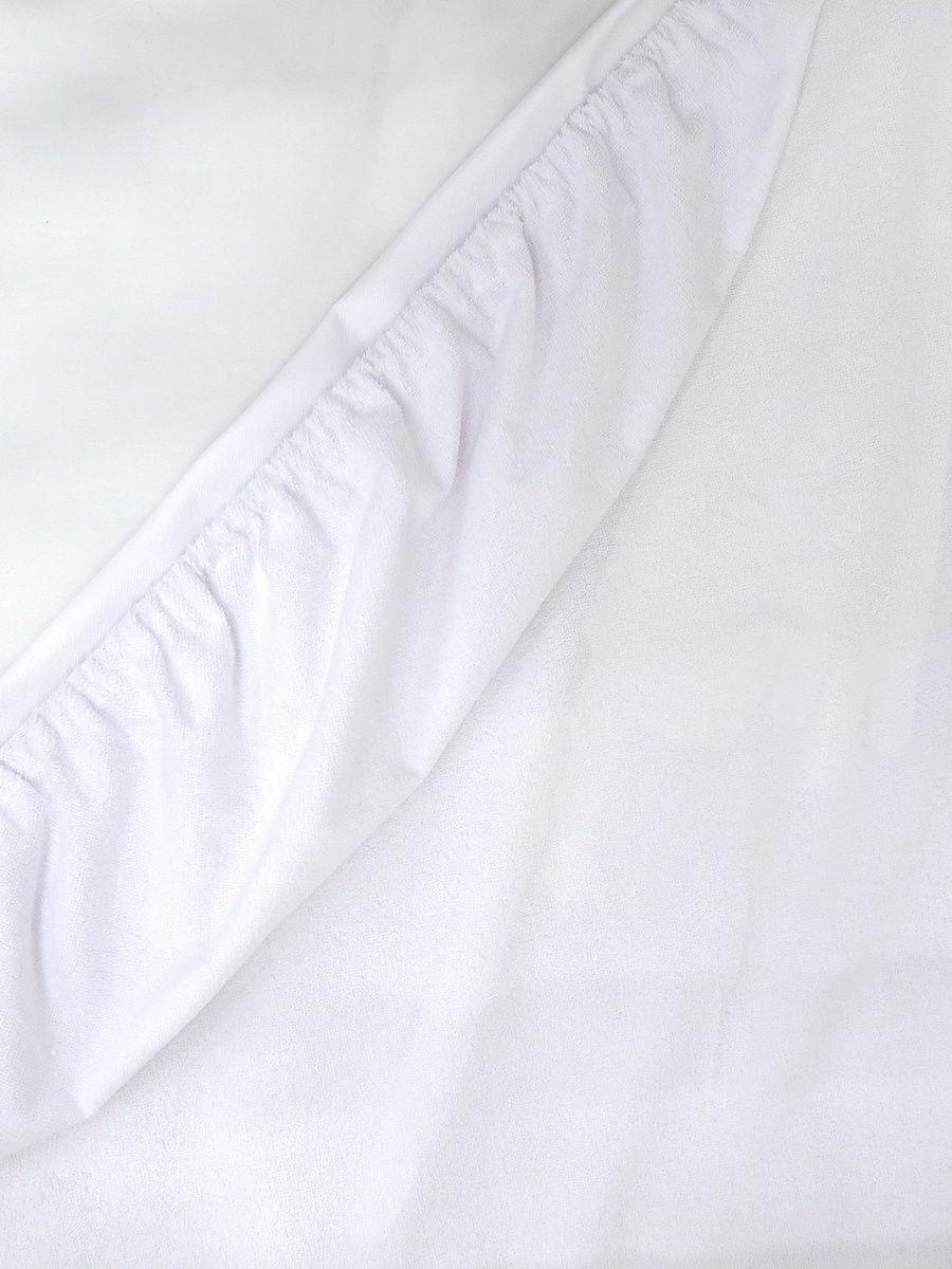 Наматрасник водонепроницаемый овальный  для кроватки (120х60 см) белый