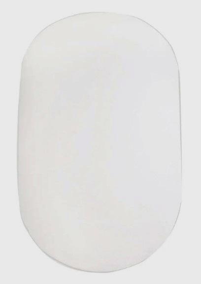 Простынь для детской кроватки овальная 120х60 см на резинке Белый