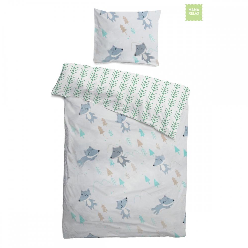 Комплект детского постельного белья Лисички в лесу