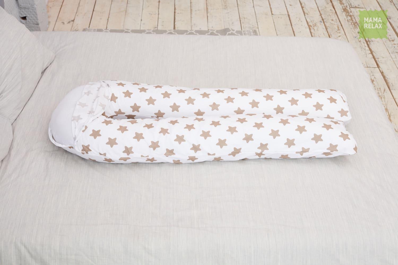 Подушка Mama Relax для беременных U 340 + наволочка бязь Прянички кофе
