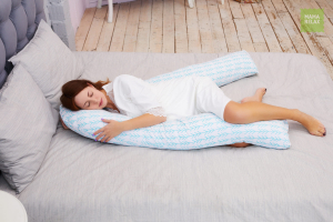 Подушка для беременных U 340 на все тело + наволочка бязь Елочки