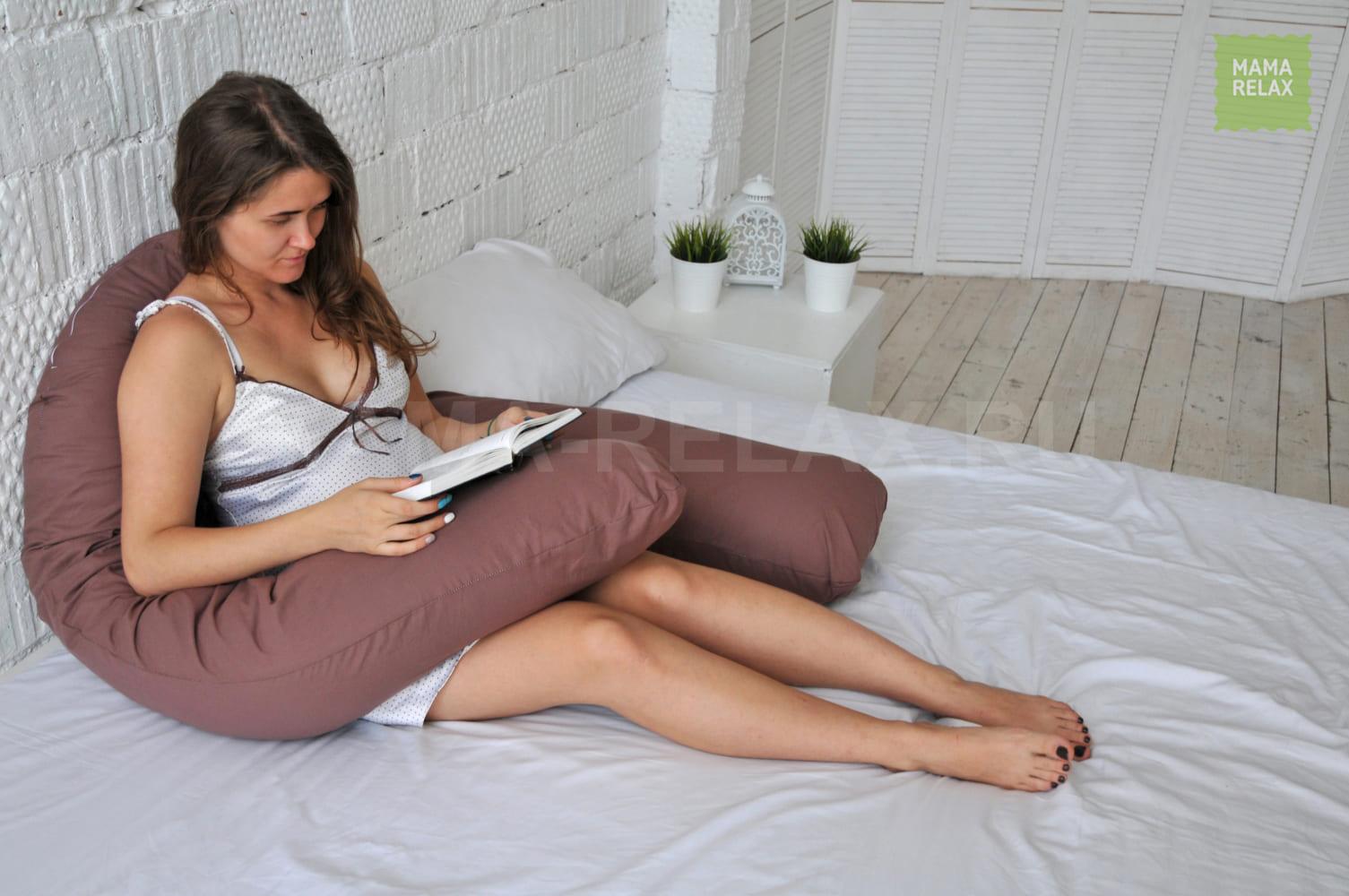 Подушка Mama Relax для беременных U 340 + наволочка поплин Мокко