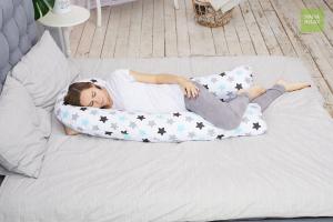 Подушка для беременных U 340 на все тело + наволочка поплин Прянички нежные