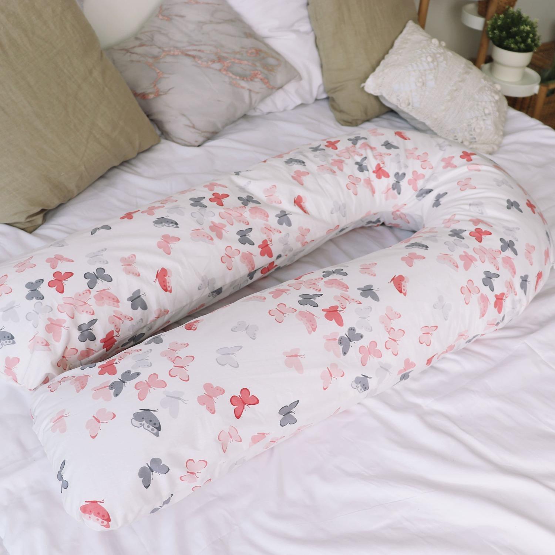 Подушка для беременных на все тело U 280 + Наволочка поплин lux Бабочки