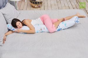Подушка Mama Relax для кормления бумеранг I 170 см + Наволочка Лисички в лесу