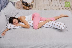 Подушка Mama Relax для кормления бумеранг I 170 см + Наволочка Прянички кофе