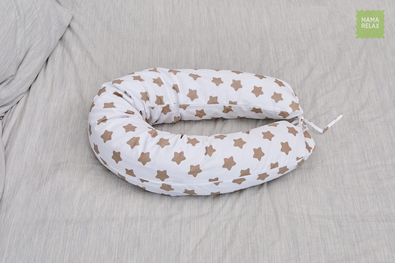 Подушка для беременных на все тело  I170+ Наволочка для I170  Прянички кофе