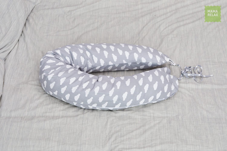 Подушка для беременных на все тело  I170+ Наволочка для I170  Облака серые