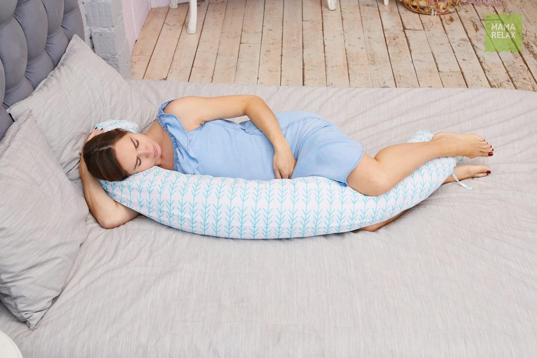 Подушка Mama Relax для кормления бумеранг I 170 см + Наволочка Елочки