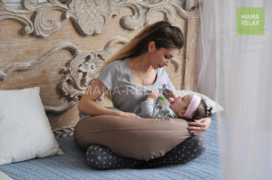 Подушка Mama Relax для кормления бумеранг I 170 см + Наволочка Мокко