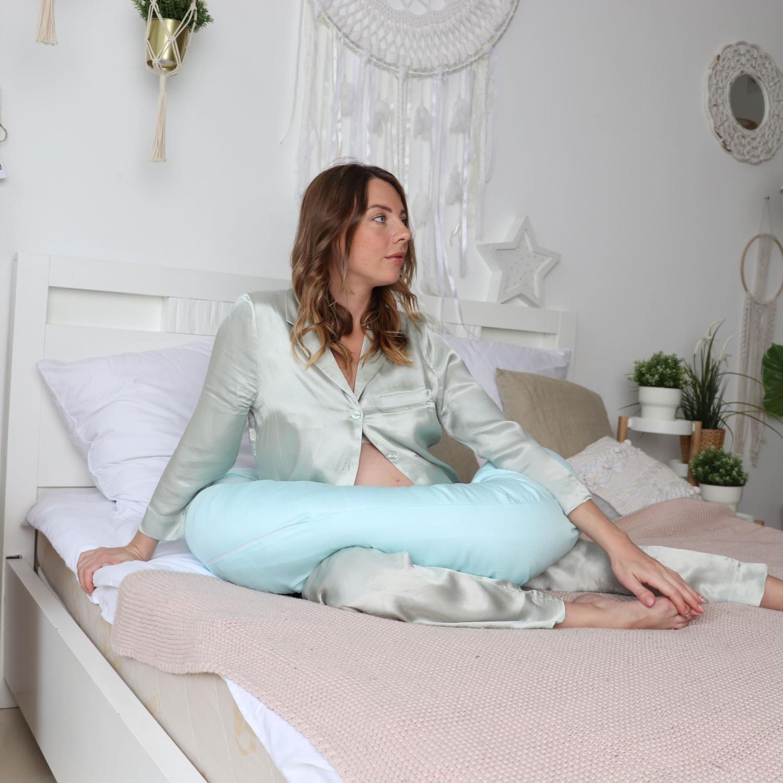 Подушка Mama Relax для кормления бумеранг I 170 см + Наволочка сатин Тиффани