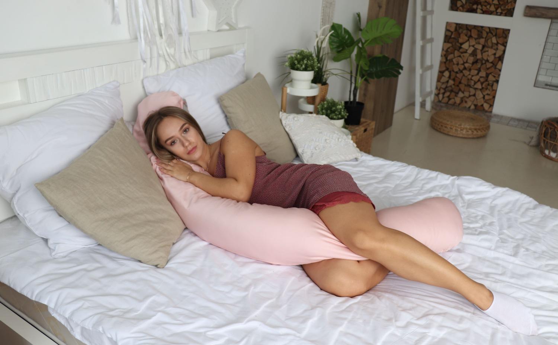 Подушка Mama Relax для кормления бумеранг I 170 см + Наволочка для I170 Пудра