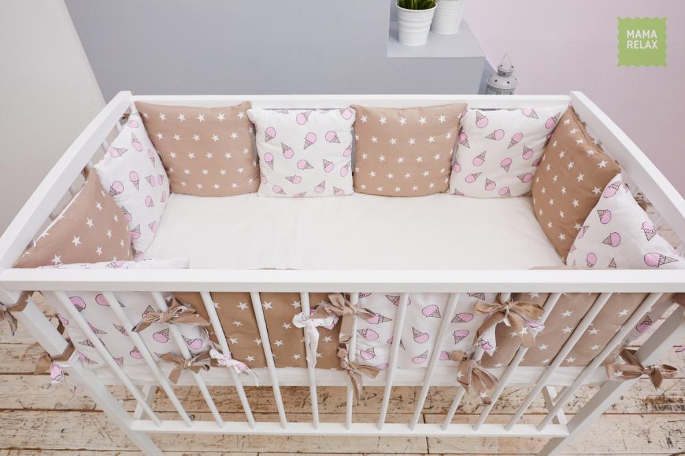 Детские бортики в кроватку - Сладкие звездочки