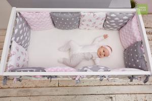 Детские бортики в кроватку - Клубника со сливками