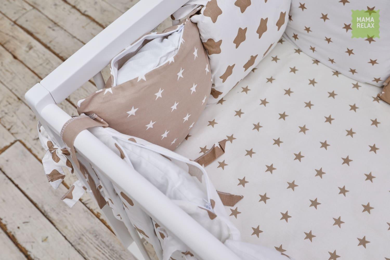 Детские бортики в кроватку - Кофейные звезды