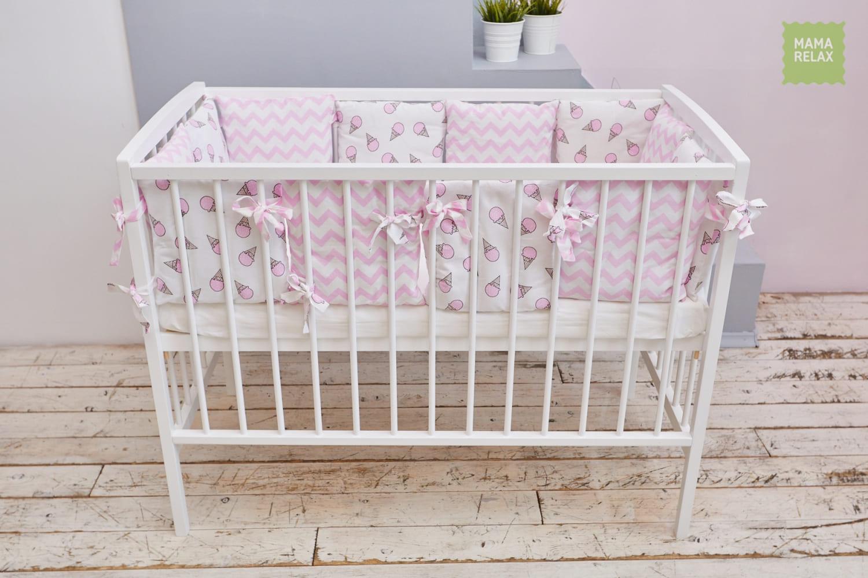 Детские бортики в кроватку - Розовые мечты