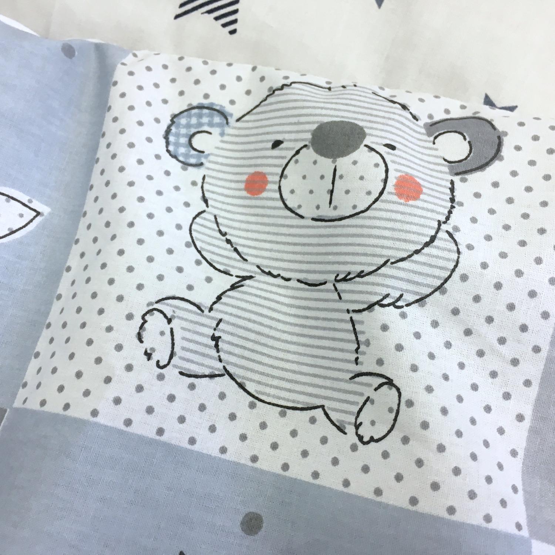 Бортики Пуфборт - Медвежонок и его друзья голубой