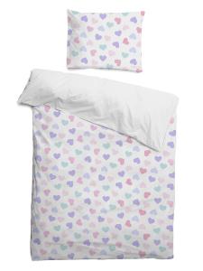 Комплект детского постельного белья Сердечки