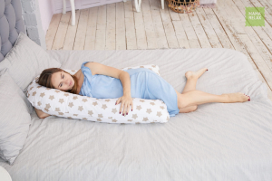 Подушка для беременных на все тело U 280 + Наволочка бязь Прянички кофе