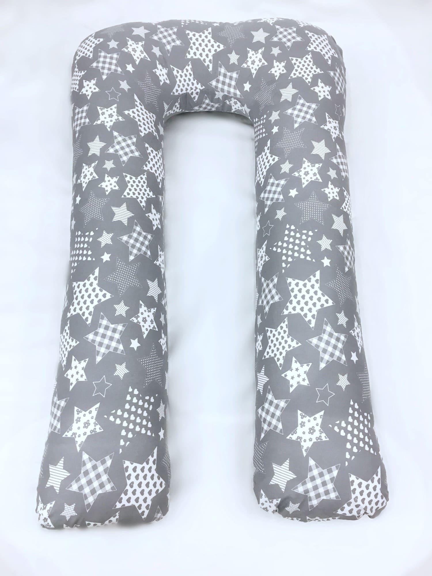 Подушка Mama Relax для беременных U XXL Нежные звезды на сером