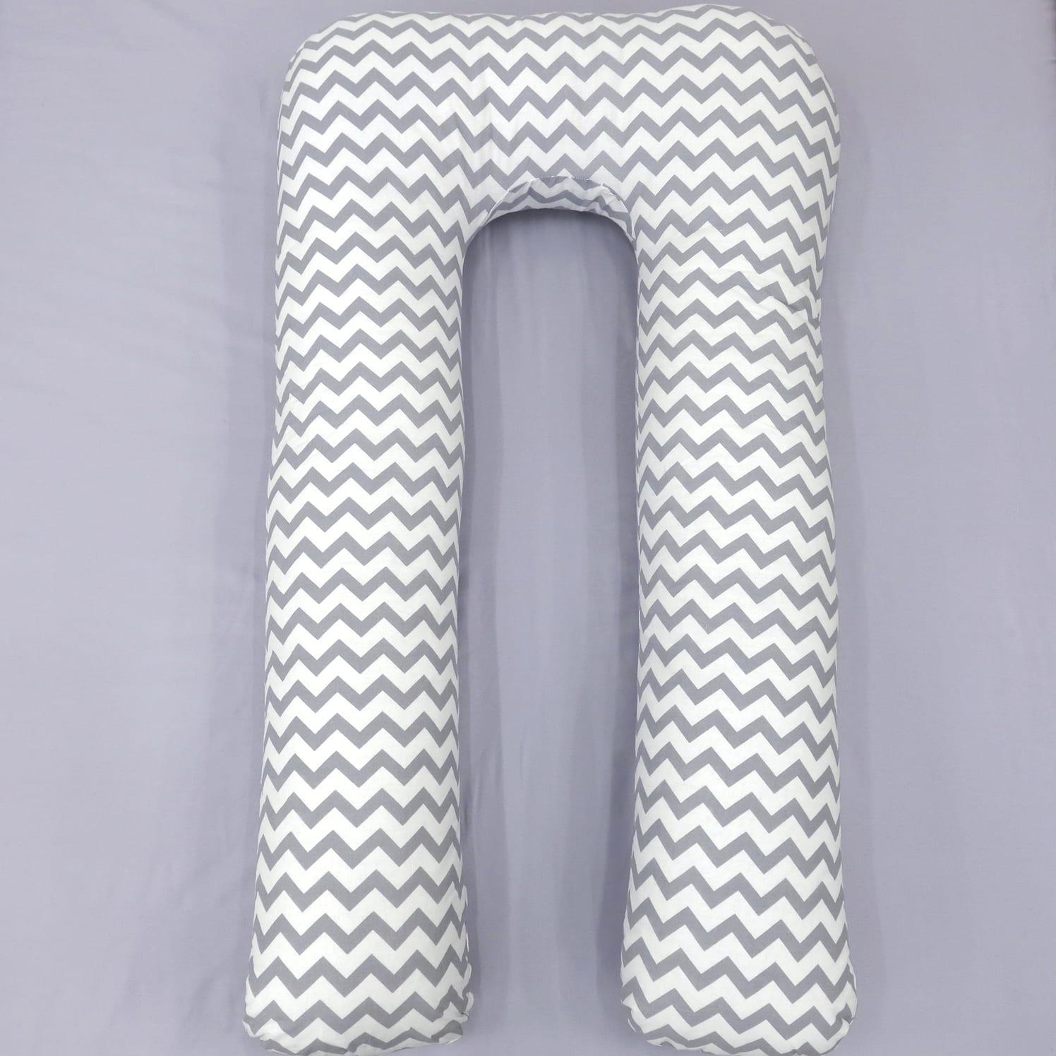 Подушка Mama Relax для беременных U XXL Серые зигзаги