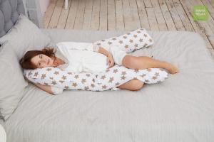Подушка Mama Relax для беременных U 340 Optima + наволочка бязь Прянички кофе
