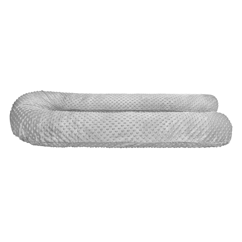 Подушка Mama Relax для беременных U 340 Optima + Наволочка Минки плюш серый