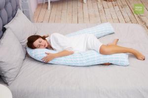 Подушка Mama Relax для беременных U 340 Optima + наволочка бязь Елочки