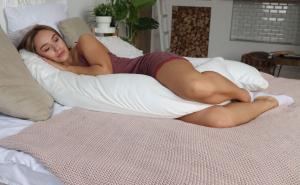 Подушка Mama Relax для беременных U 340 Optima + Наволочка сатин Молочный