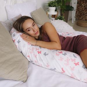 Подушка Mama Relax для беременных U 280 Optima + Наволочка поплин lux Бабочки