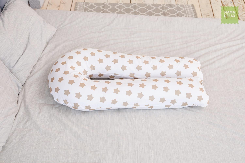 Подушка Mama Relax для беременных U 280 Optima + Наволочка бязь Прянички кофе